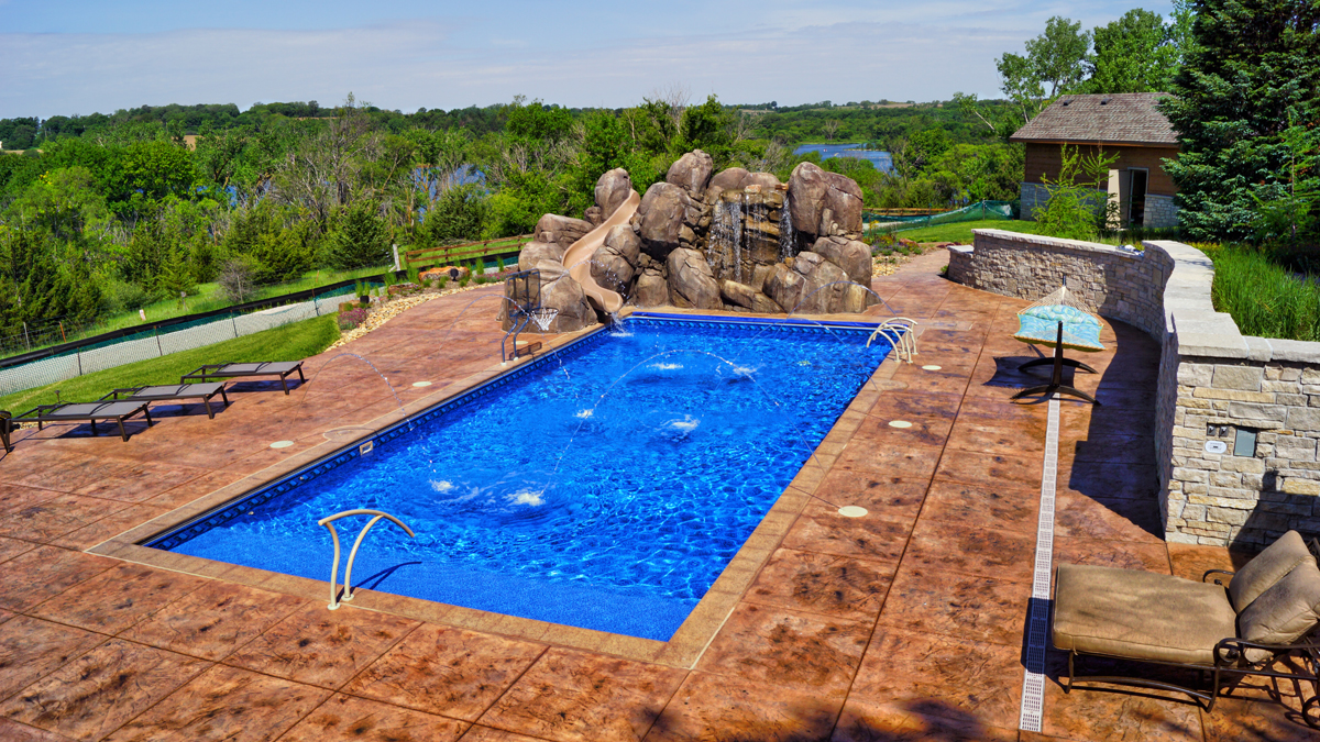 Continental Pool Spa Beautiful Backyards In Omaha Nebraska