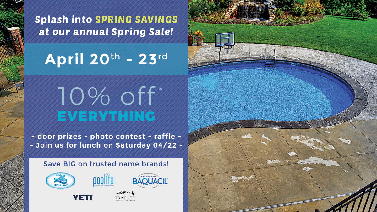 Splash into Summer Savings at our Spring Chemical Sale!